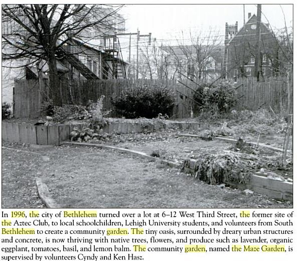 image and description from South Bethlehem By Kenneth F. Raniere, Karen M. Samuels