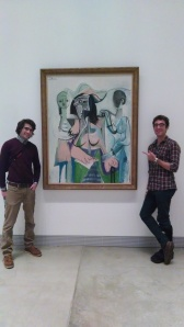Posing next to a Picasso