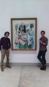 Posing next to a Picasso