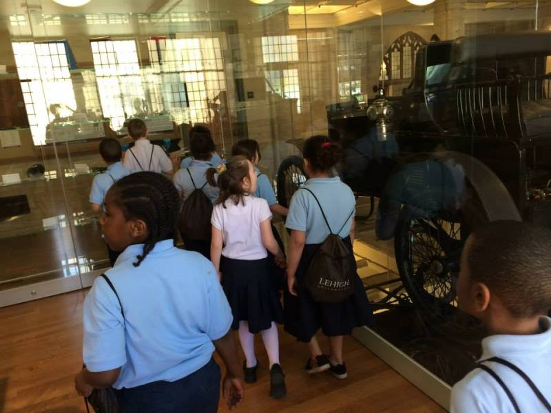 Students got to see the Packard Car - and learn the difference between Packer and Packard!