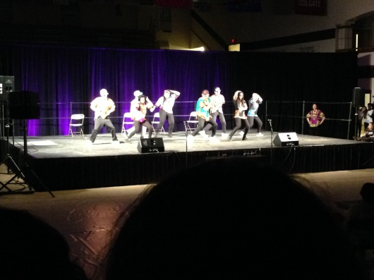 African Renaissance, the second place team, performs at Spec-Spec.