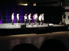 Overdoze, the third place team, performs at Spec-Spec.