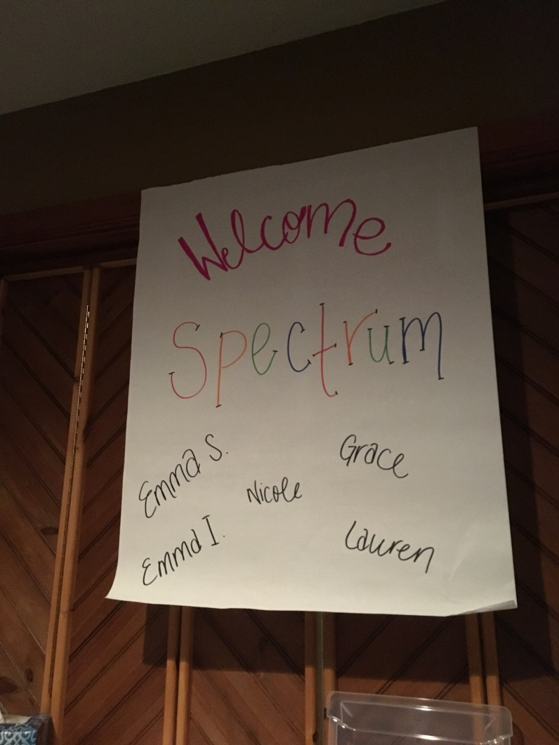 The sign they had to greet us