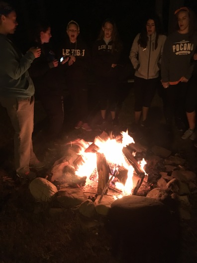 Campfires and s'mores